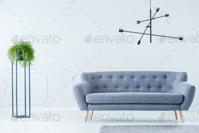 Industrial interior with sofa