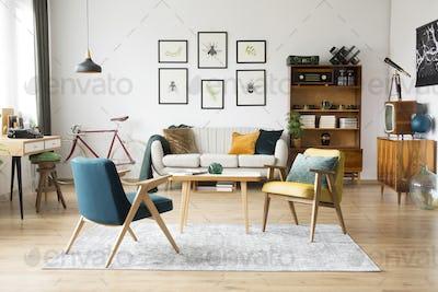 Vintage furniture in a flat