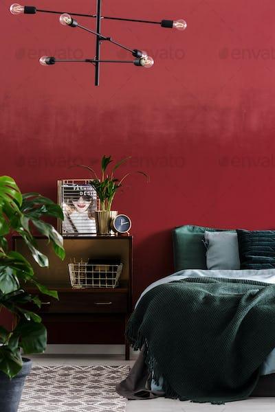 Fashion designer's bedroom interior