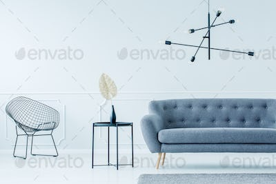 Chair, side table and sofa