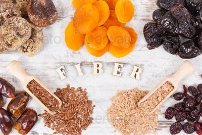 Inscription fiber and ingredients containing natural minerals and vitamins