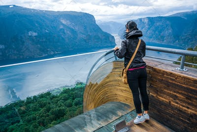 Stegastein Lookout Beautiful Nature Norway observation deck view