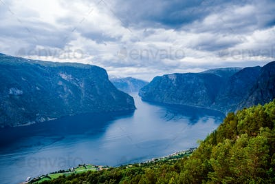 Beautiful Nature Norway Stegastein Lookout.