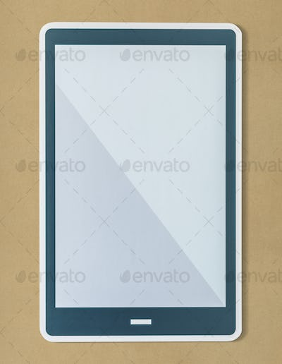 Blank isolated digital tablet icon