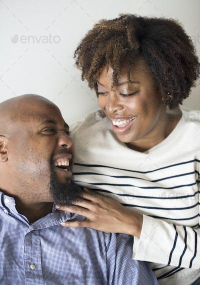 Happy sweet couple in love