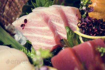 Sashimi japanese food healthy eating