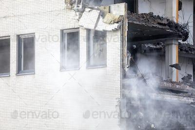 demolishing, destroying of house
