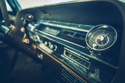 Vintage Car Dashboard Interior
