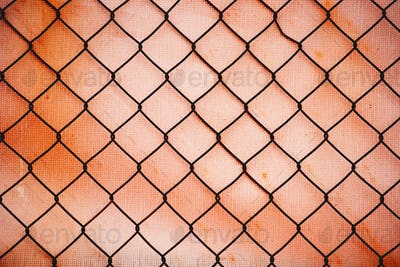 Rusty chain link fence