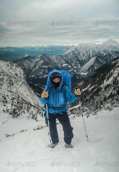 winter hiker