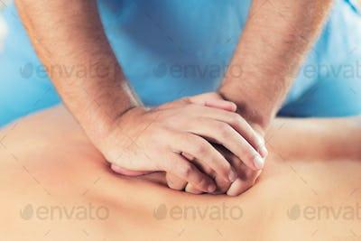 Close Up Of Back Massage