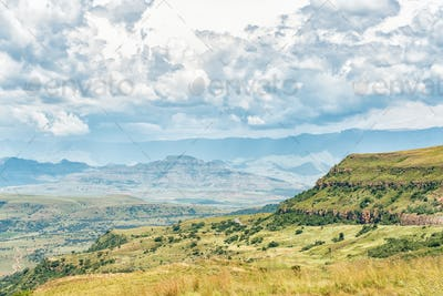 View from the top of Oliviershoek Pass into Kwazulu-Natal