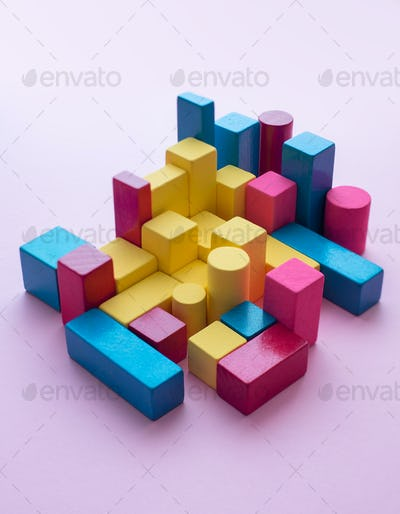 Color block cubes