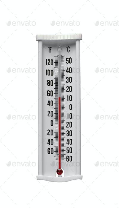 Classic thermometer isolated on white