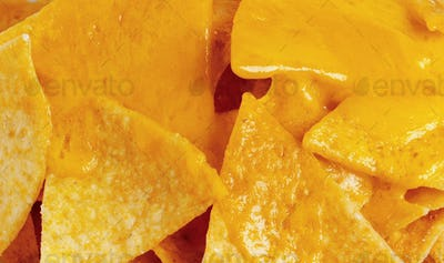 Tortilla chips with cheese