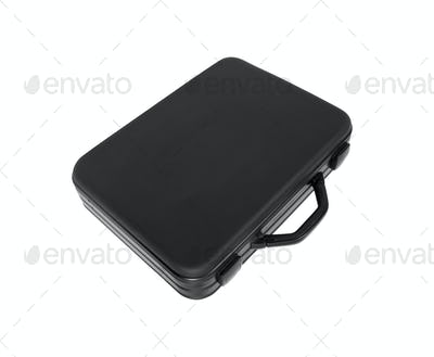 Black case isolated on white