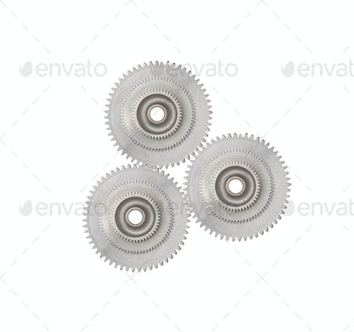 gear series isolated on white