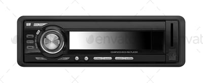 car audio player isolated