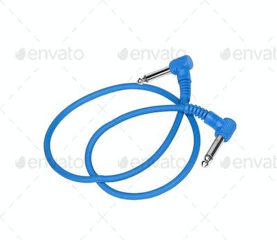 Blue Jack Plugs isolated on white