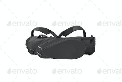 black golf bag isolated on white background