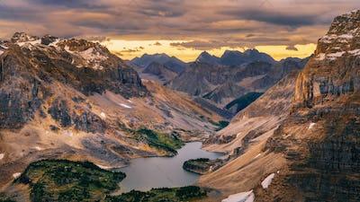Wild landscape mountain range and lake view, Banff national park