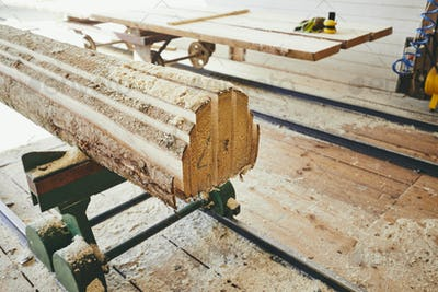 Production at the sawmill