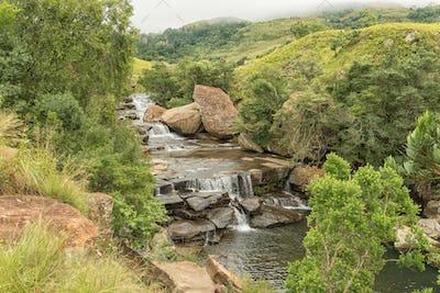 Cascades in the Mahai River in the Kwazulu-Natal Drakensberg