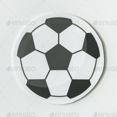 Cut out paper football graphic
