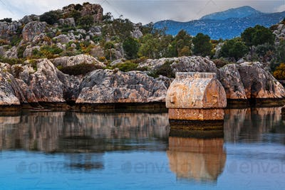Lycian tombs in Kalekoy. Simena.