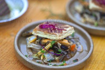 Sea food on a plate