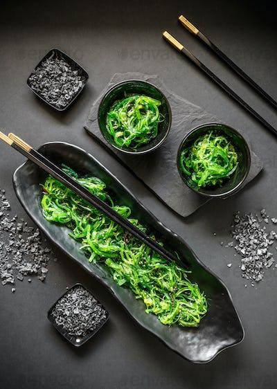 Seaweed salad in bowl