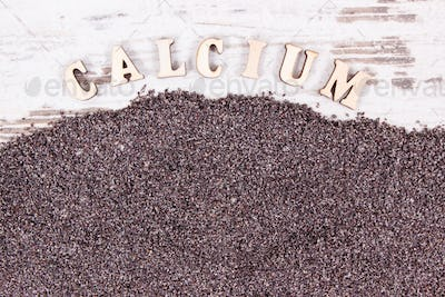 Poppy seeds as source calcium and fiber