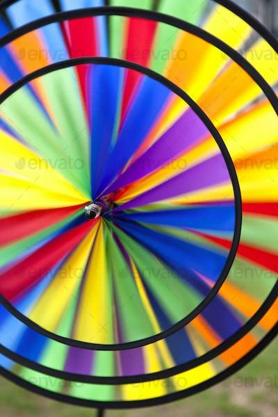 Colored fabrics weathervane