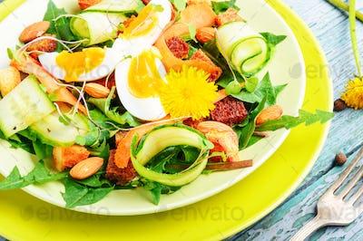 Diet vegetarian salad.Vegan salad