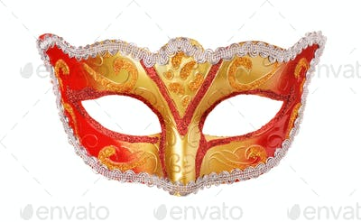 Front view of carnival mask