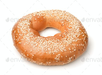 Fresh sesame bagel