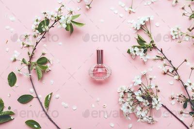 Perfume jar with apricot blossom