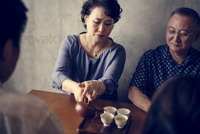 Senior japanese people