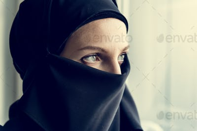 Close up of islamic woman portrait