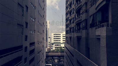 Buildings in downtown Bangkok city