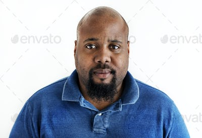 Portrait of black man isolated