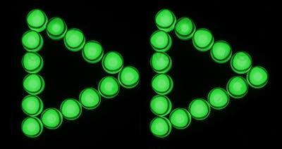 Green lights forward button icon