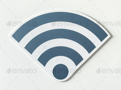 Icons of a strong signal of wifi