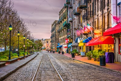 River Street, Savannah, Georgia, USA