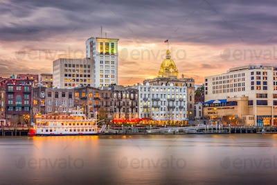 Savannah, Georgia, USA Skyline