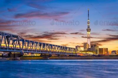Tokyo, Japan River Skyline