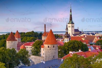 Tallinn, Estonia Historic Skyline