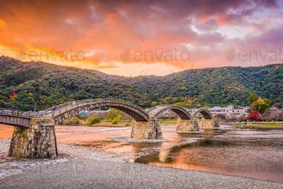 Iwakuni, Japan at Kintaikyo Bridge