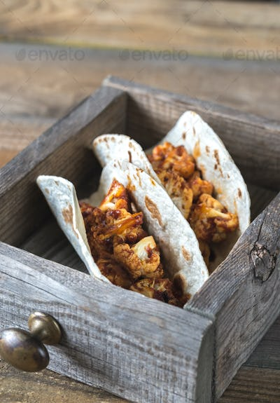 Tacos with spicy cauliflower