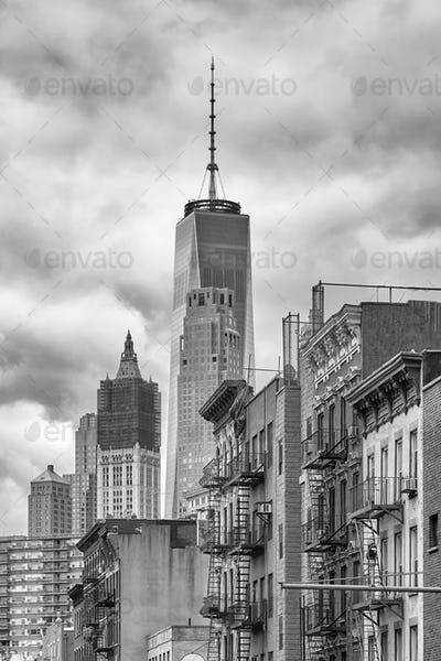 Black and white picture of the Manhattan.